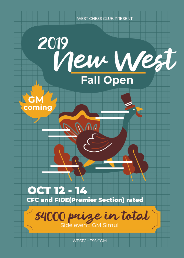 2019 New West Fall Open Poster